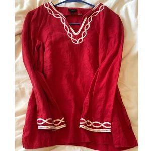 Talbots 100% Linen tunic